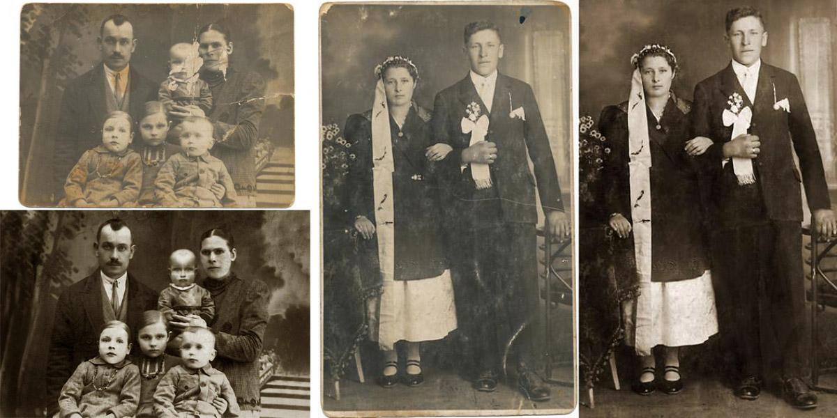 Usługi fotograficzne - reprodukcje starych zdjęć, rekonstrukcja zniszczonych zdjęć.